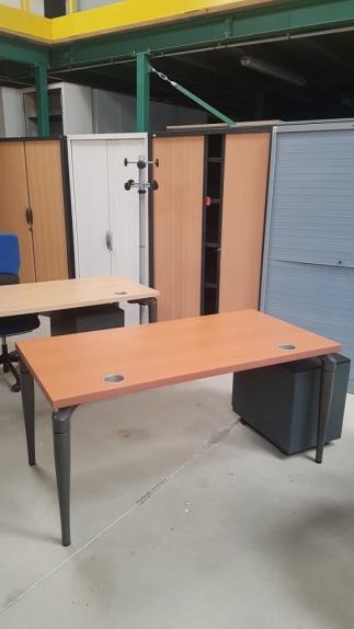 Bureau Plan Droit SAMAS Poirier DIM : 160 x 80 cm