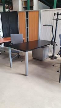 Bureau Droit Noir DIM : 160 X 80 cm