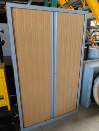 ARMOIRE Haute DYS 1 Gris / Hêtre  DIM 120 cm