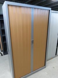 Armoires Haute Gris/Hêtre   Larg 120 cm