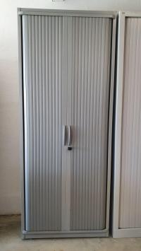 ARMOIRE Haute STEELCASE Gris Métal DIM : 80 cm
