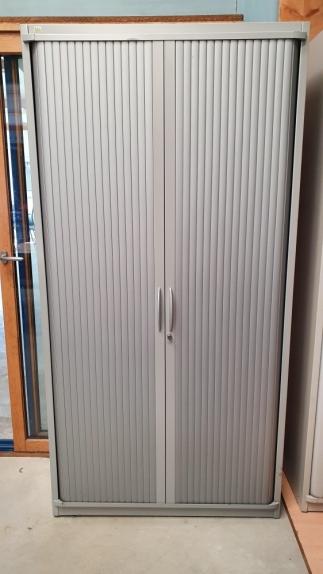 ARMOIRE Haute STEELCASE Gris Métal DIM : 100 cm