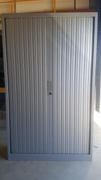 ARMOIRE Haute Larg 120 cm  CLEN Grise Aluminium