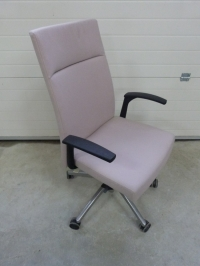 Fauteuil direction  tissu beige occasion