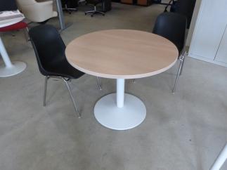Table Ronde Chêne clair / Blanc DIM : 90cm