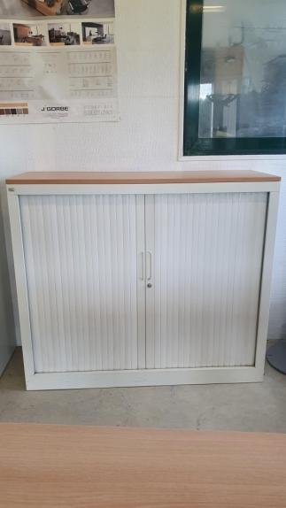 Armoire Basse EXPRESS Blanc  Larg 120 cm