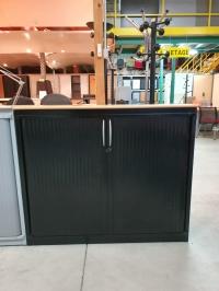 Armoire Basse Steelcase  noir  Larg 100 cm
